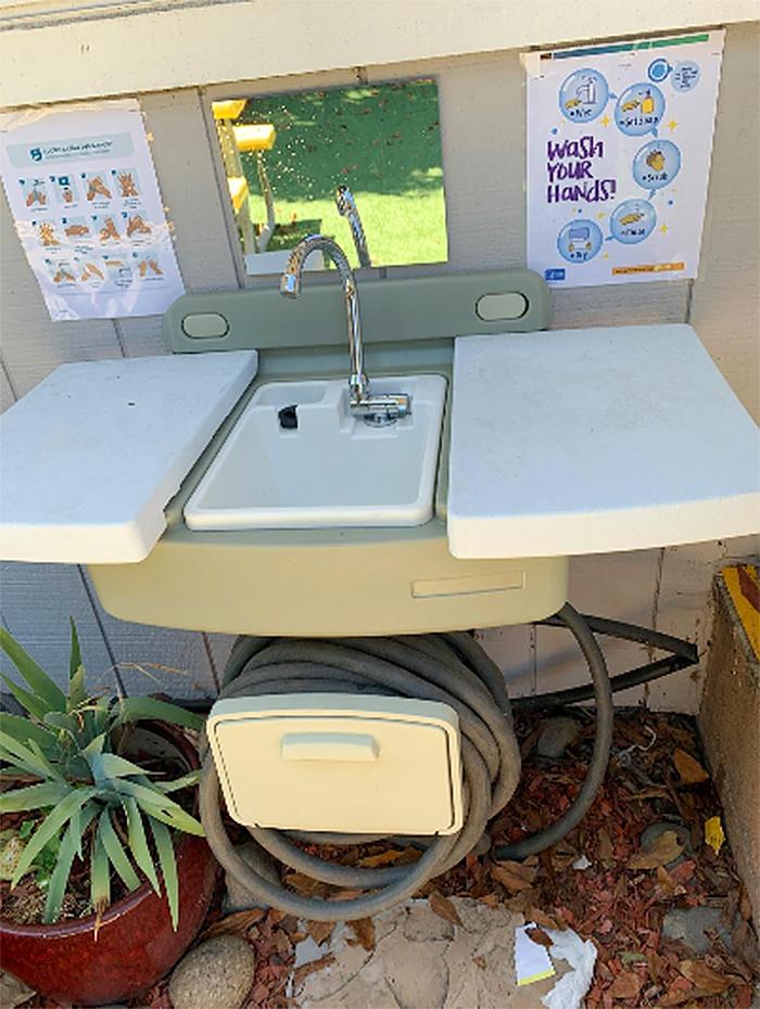 garden hose sink outdoor station