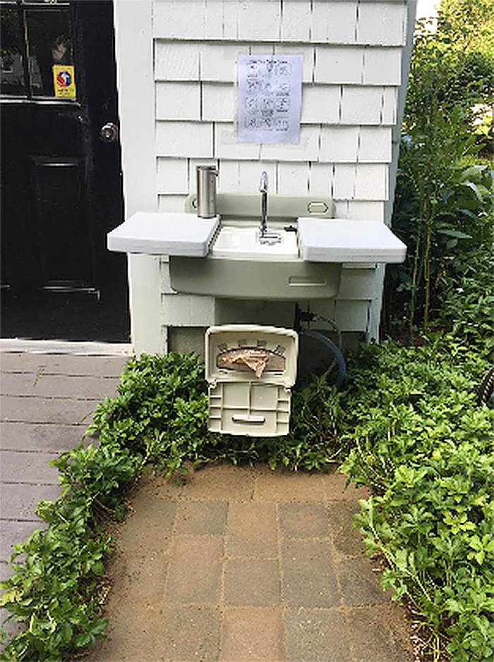 garden hose sink station