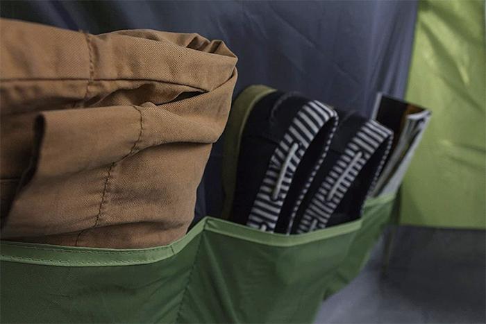 giant family tent internal storage pockets