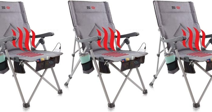 heated folding chair