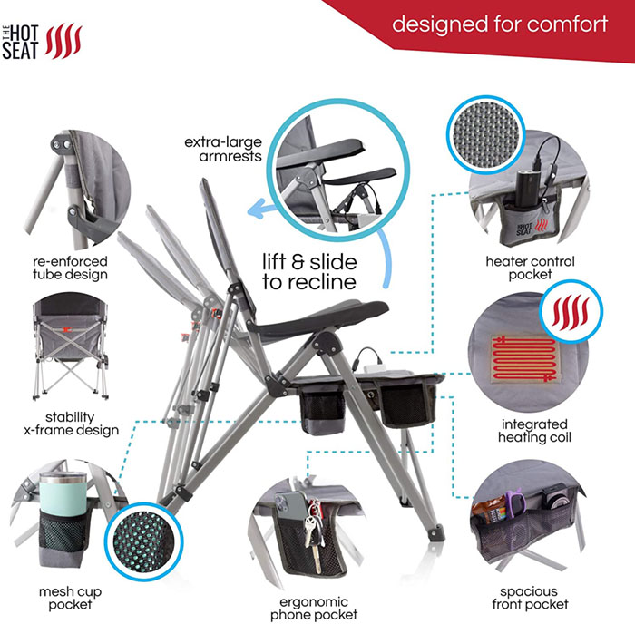 heated folding chair accessories