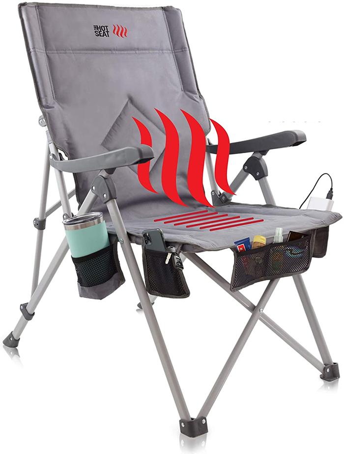 heated folding chair