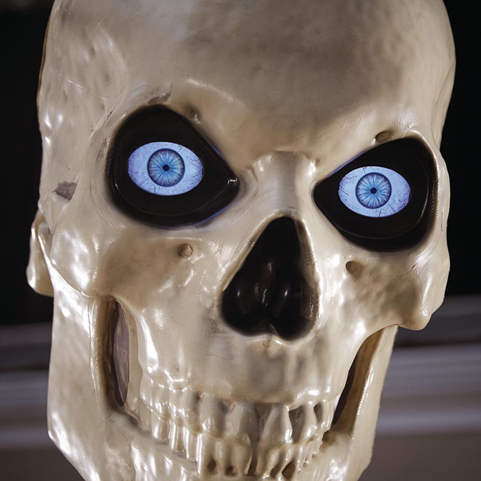 home depot home accents holiday 12-foot skeleton animated lcd eyes