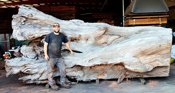 jeffrey michael samudosky giant octopus carving