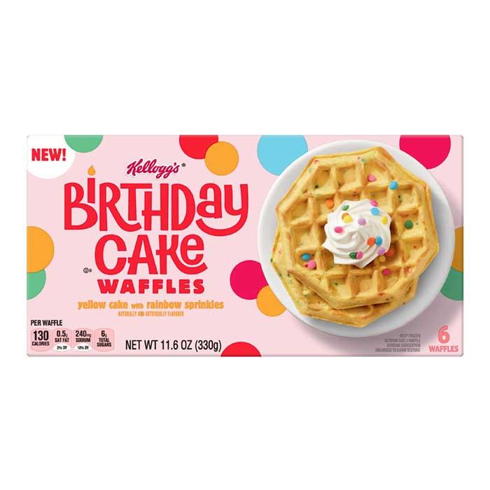 kellogg's birthday cake waffles front