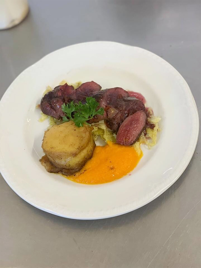 kevin nairn head chef duck and fondant potato