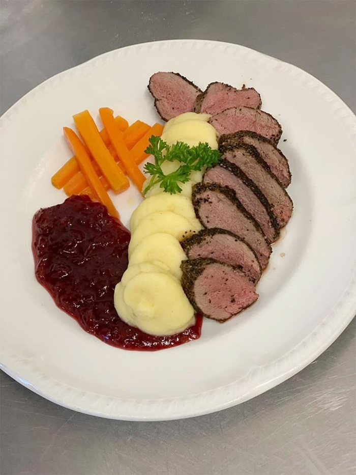 kevin nairn head chef venison cumberland sauce