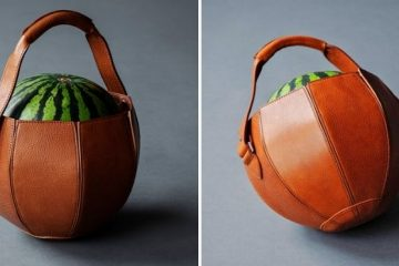 leather watermelon bag