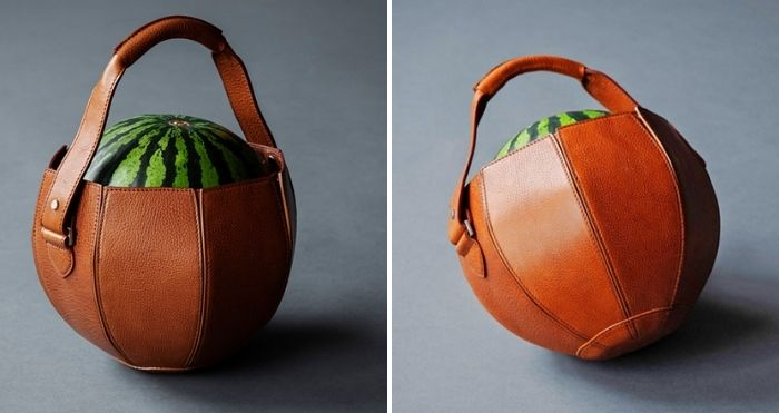 leather watermelon bag