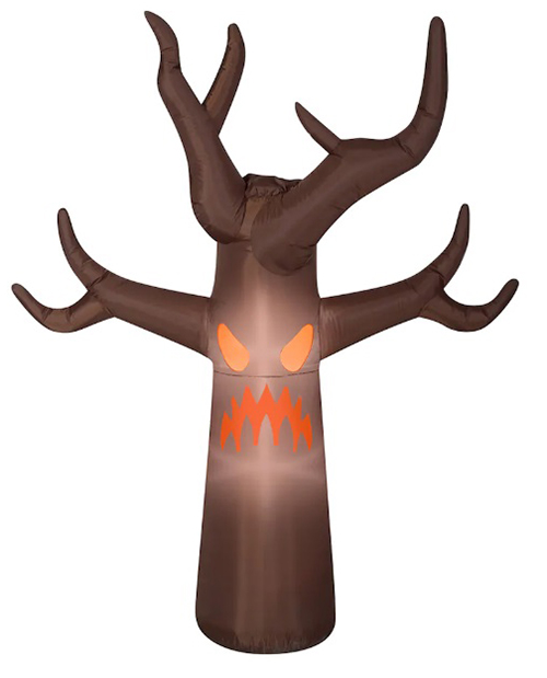 michaels 7 foot led inflatable haunted tree with fog effects