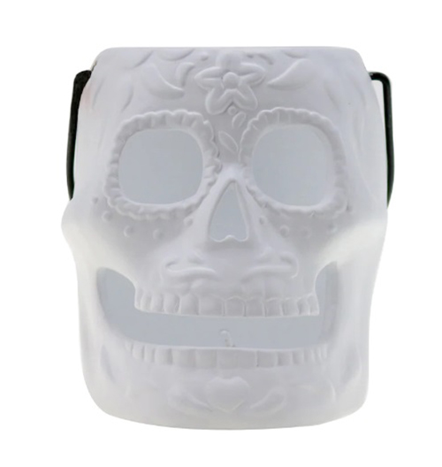 michaels halloween collection 6 inch pre-lit ceramic skull lantern