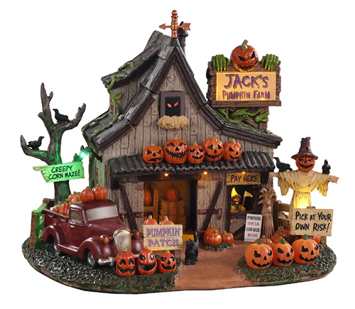michaels lemax spooky Town jack's pumpkin farm