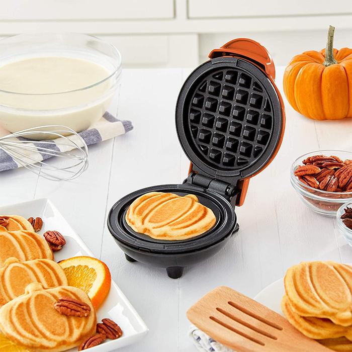 mini pumpkin waffle maker fall treats