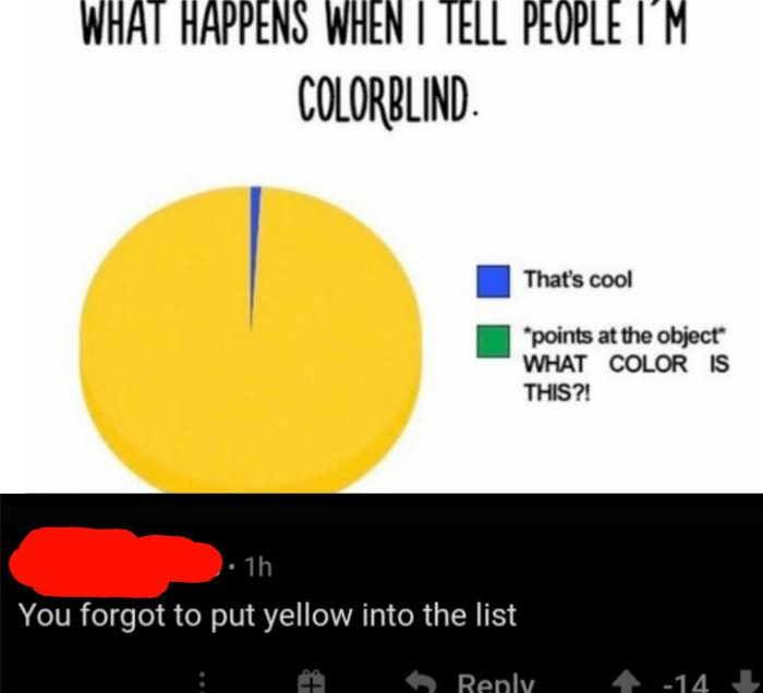 misinterpreted puns color blind