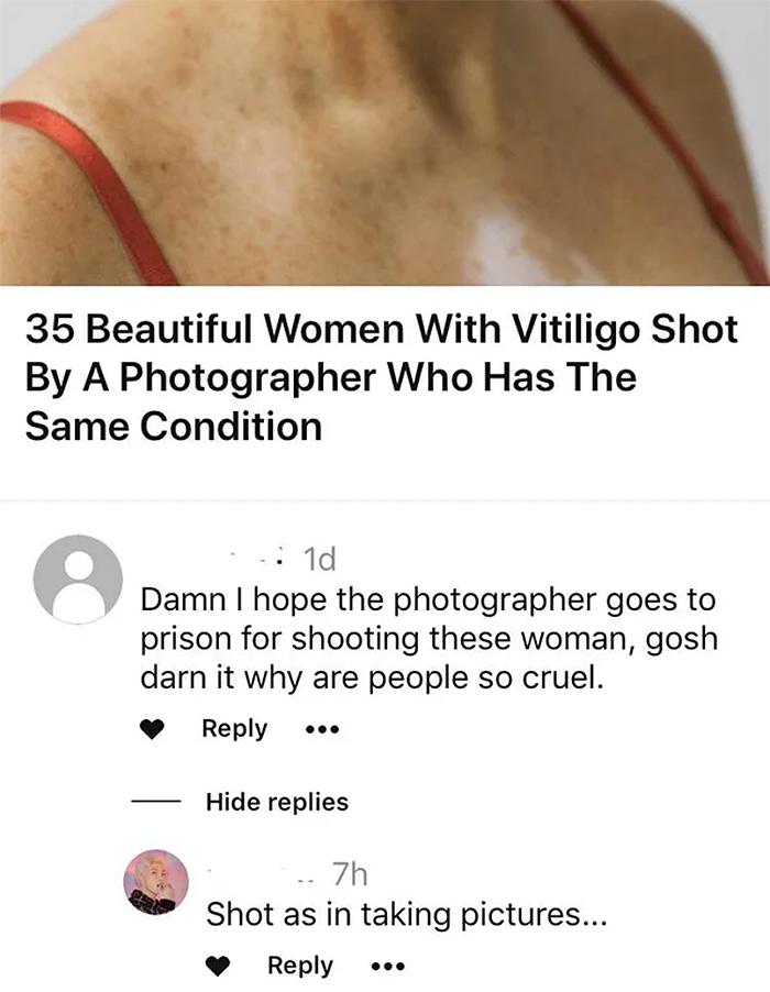 misinterpreted puns shot by a photographer