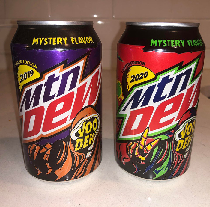 mountain dew voodew 2019 and 2020 side by side comparison