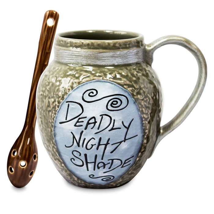nightmare before christmas with deadly nightshade detail and matching spoon with holes
