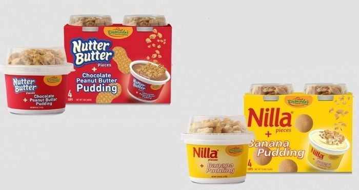 nutter butter and nilla puddings