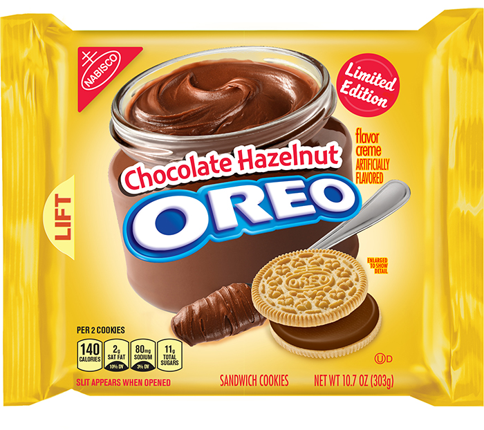 oreo chocolate hazelnut limited edition