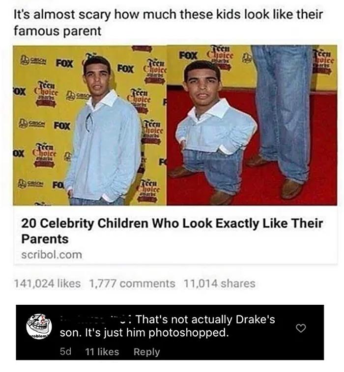 people who missed the joke drake son