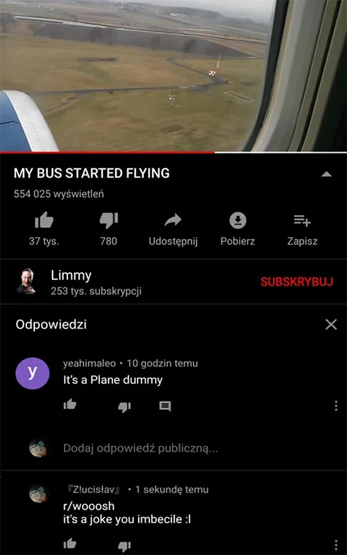 people who missed the joke flying bus