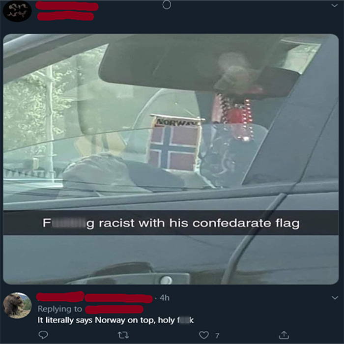salty satire racist norway flag
