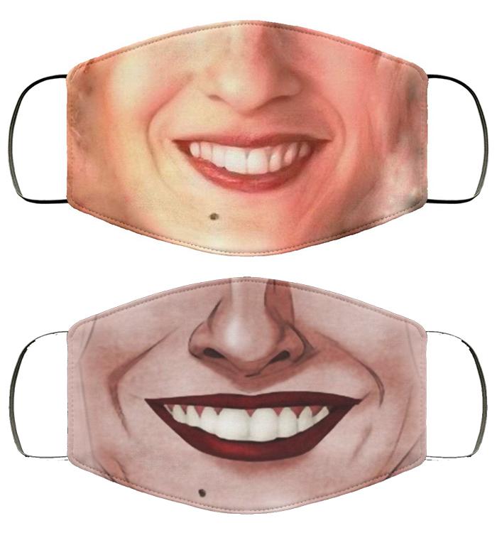 sarah jessica parker smiling mask design