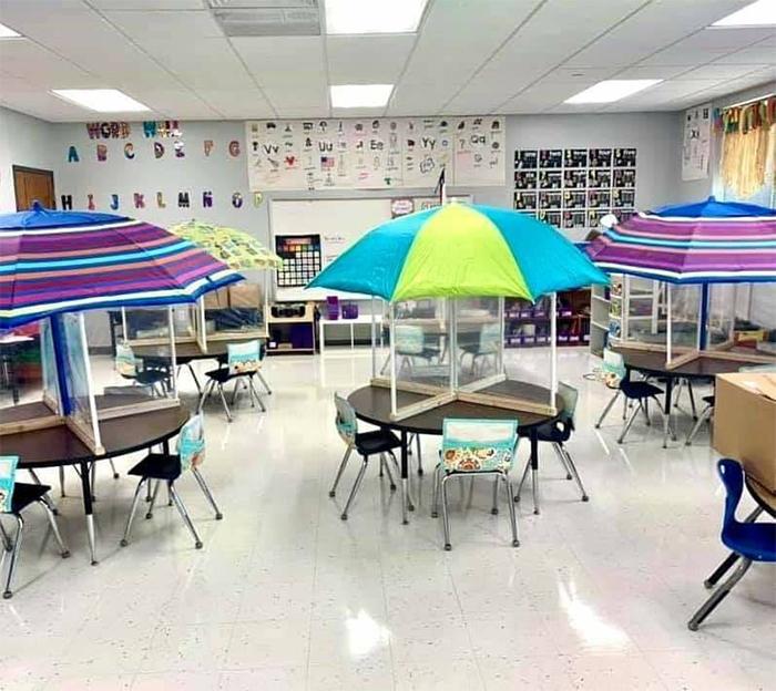 socially distanced classrooms beach