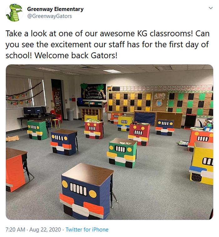 socially distanced classrooms cars design