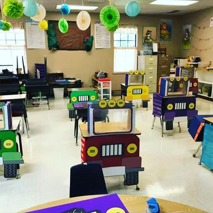 socially distanced classrooms creative designs