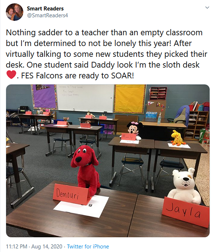 socially distanced classrooms stuffed toys
