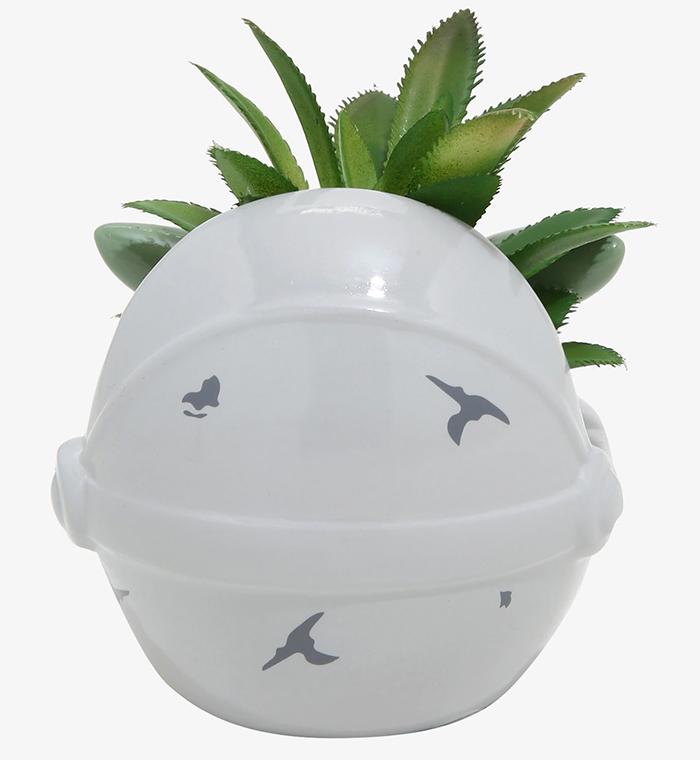 star wars hover-pram ceramic planter
