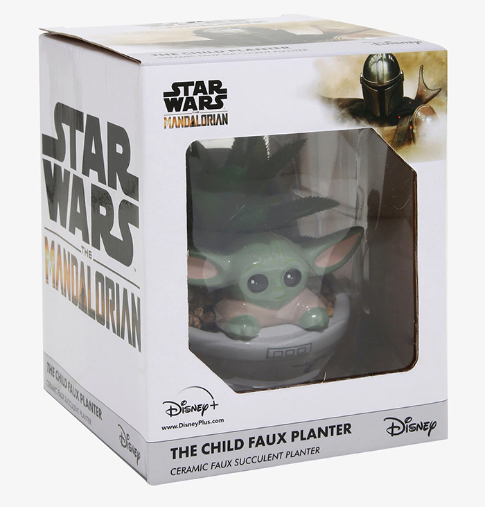 star wars the child faux planter