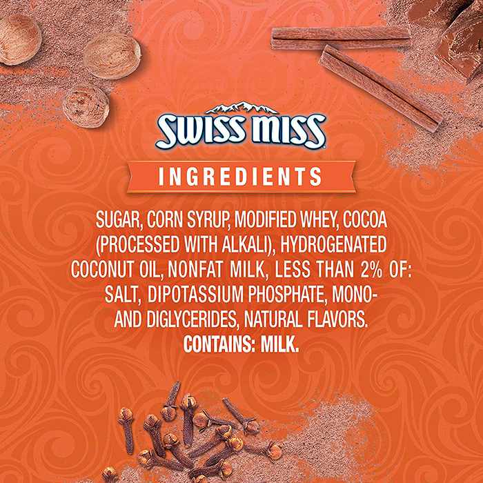 swiss miss pumpkin spice hot cocoa mix ingredients