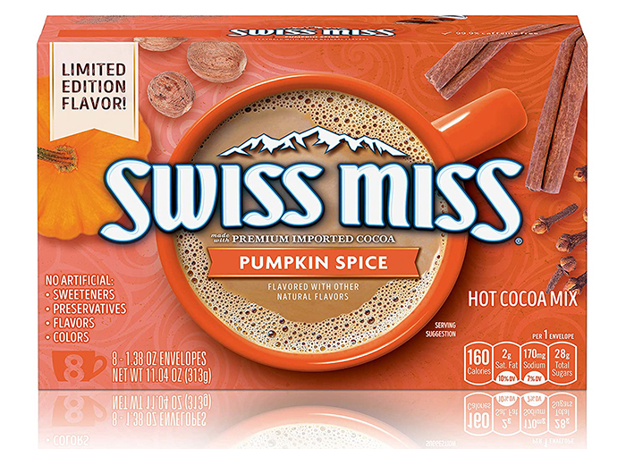 swiss miss pumpkin spice hot cocoa mix