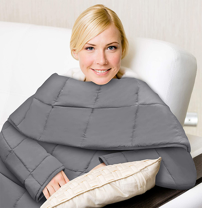 blanket with sleeves