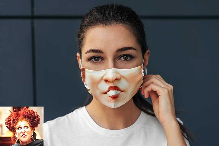 winifred sanderson face mask