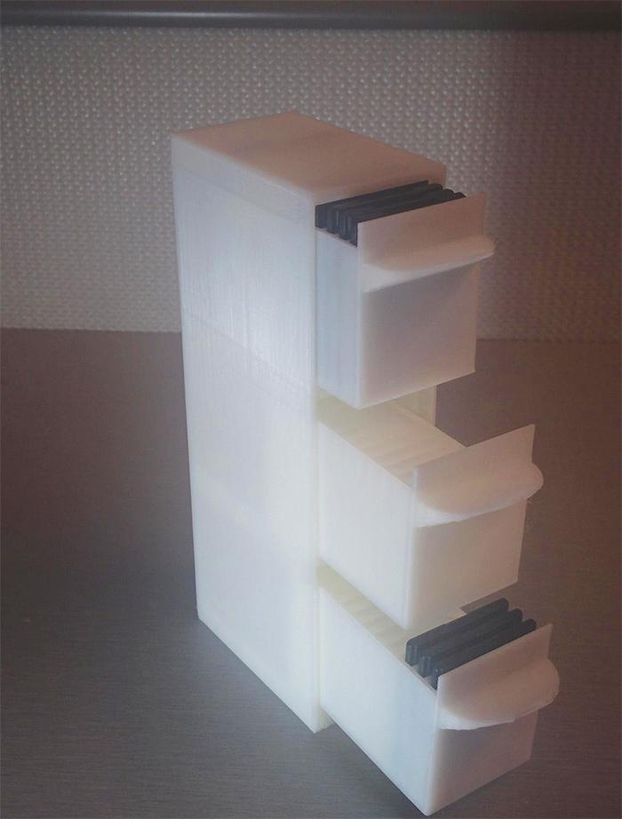 3d printed memory card organizer