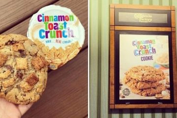 Cinnamon Toast Crunch cookie