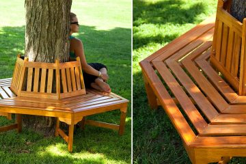 Wrap-around tree benches