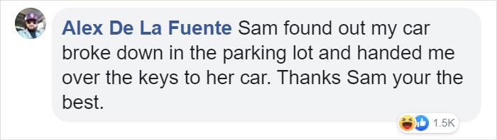 alex de la fuente facebook comment walmart streator sam reynolds