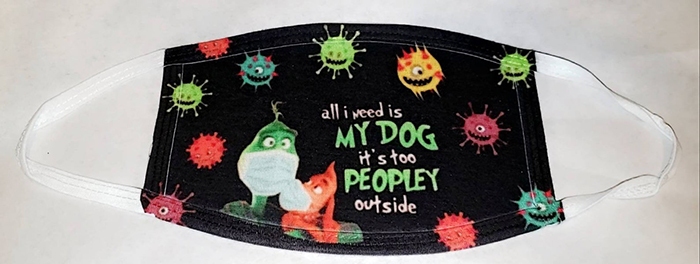 all i need is my dog it's too peopley outside grinch face mask