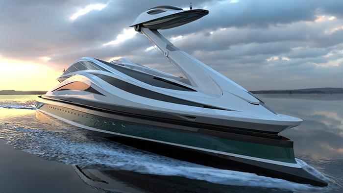 avanguardia luxury electric yacht concept