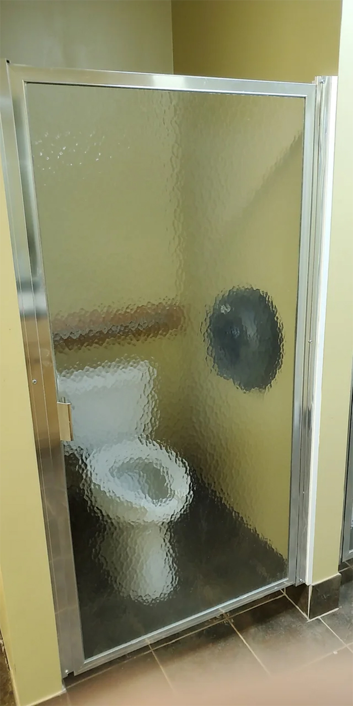 bathroom transparent door