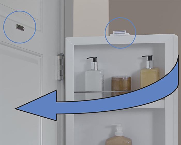 behind the door cabinet metal striker plate magnet