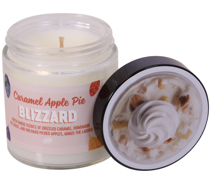 caramel apple pie blizzard candle