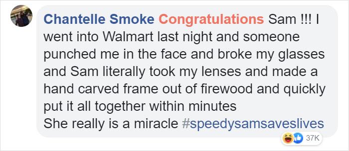chantelle smoke facebook comment walmart streator sam reynolds