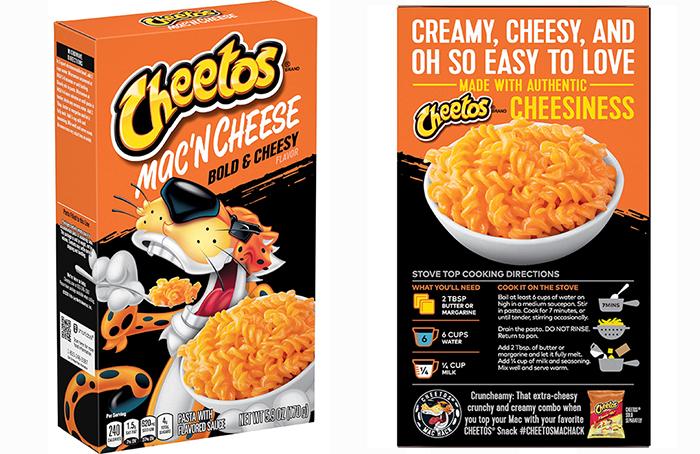 cheetos mac 'n cheese bold cheesy