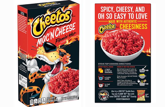 cheetos mac 'n cheese flamin hot