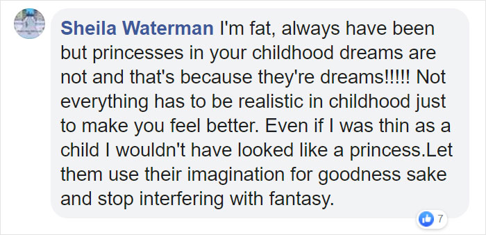 comment on fat disney princesses-not everything has to be realistic